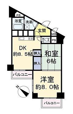 中古マンション-八王子市椚田町 間取り