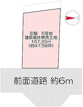 土地-京都市左京区岩倉村松町 区画図