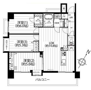 中古マンション-横浜市西区中央1丁目 間取り