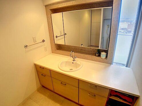 中古マンション-豊田市小坂本町5丁目 可愛い造作の洗面室です。収納豊富でスッキリ片付きます。