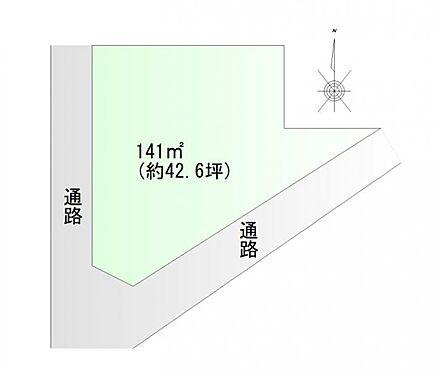 土地-仙台市宮城野区福室6丁目 区画図