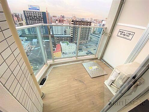 区分マンション-大阪市西区南堀江3丁目 外からの目が気にならないバルコニーで洗濯物が干せます