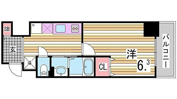 区分マンション-神戸市中央区相生町5丁目 間取り