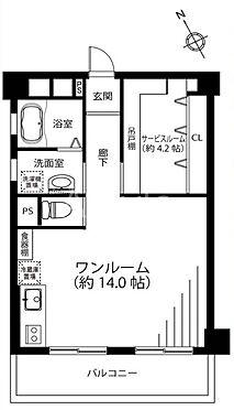 区分マンション-新宿区早稲田鶴巻町 間取り