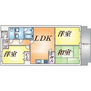 マンション(建物一部)-神戸市北区緑町3丁目 3LDKでファミリー世帯向けの間取り