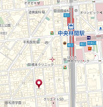 店舗事務所(建物全部)-大和市中央林間3丁目 地図