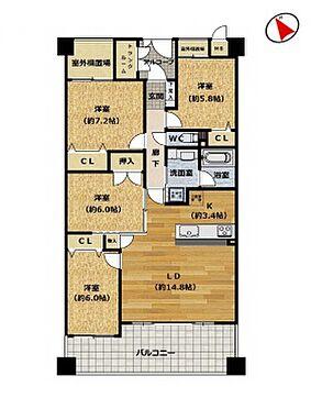 中古マンション-豊田市前山町3丁目 90平米超えの4LDKマンション!使い勝手の良い広々としたマンションです◎