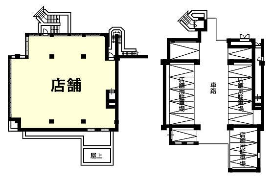店舗事務所(建物一部)-船橋市本郷町 間取り