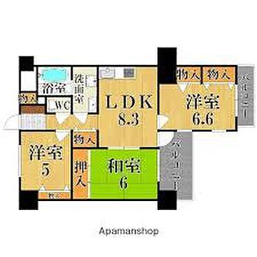 マンション(建物一部)-奈良市鶴舞西町 間取り
