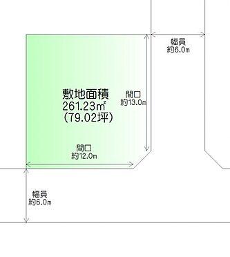 土地-仙台市泉区加茂2丁目 区画図