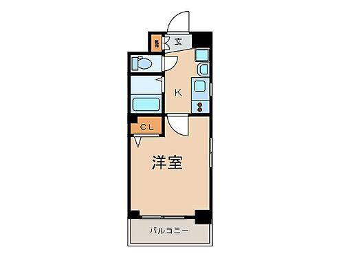マンション(建物一部)-京都市下京区中金仏町 水回りがまとめられ、動線に配慮された間取り