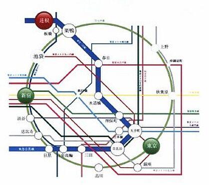 マンション(建物一部)-板橋区坂下3丁目 東京主要エリアへ30分圏内の好立地 12路線に接続する都営三田線