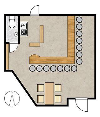住宅付店舗(建物全部)-神戸市垂水区南多聞台3丁目 1階間取り図