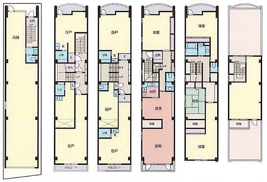 ビル(建物全部)-大阪市浪速区大国1丁目 1階店舗、2〜3階は満室賃貸中、4〜6階はオーナー使用中です。