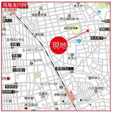 寮-さいたま市浦和区本太5丁目 地図
