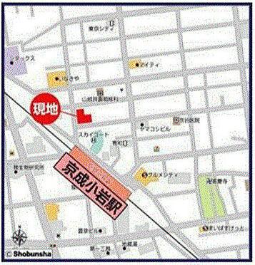 店舗事務所(建物一部)-江戸川区北小岩6丁目 地図