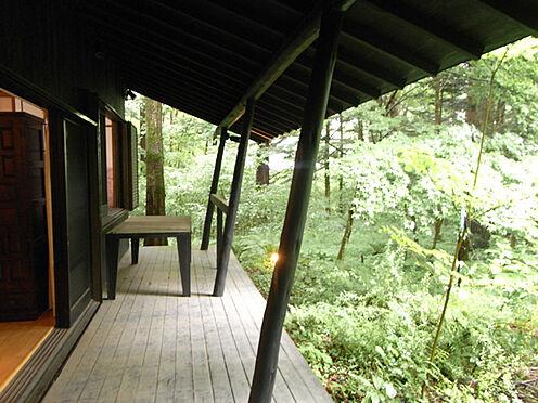 中古一戸建て-北佐久郡軽井沢町大字長倉 屋根付きのウッドデッキです。