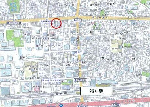 店舗・事務所・その他-江東区亀戸2丁目 地図