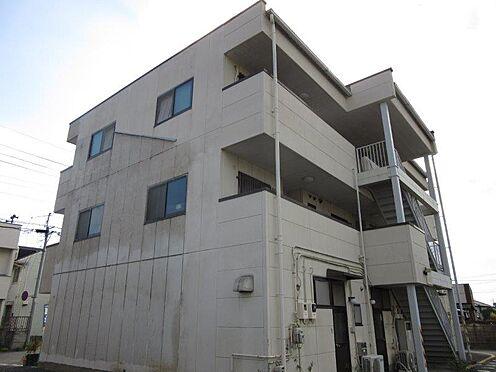 アパート-佐野市久保町 外観東側。2DK×6戸、店舗×3戸