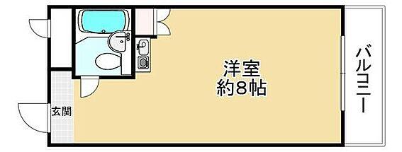 区分マンション-大阪市中央区船越町1丁目 間取り