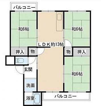 マンション(建物一部)-堺市南区原山台1丁 間取り