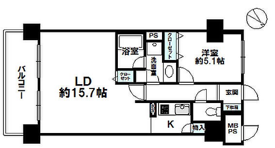 区分マンション-札幌市西区西町南13丁目 間取り