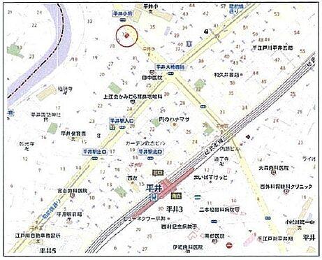 土地-江戸川区平井6丁目 案内図