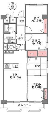 中古マンション-大阪市西区江戸堀2丁目 間取り