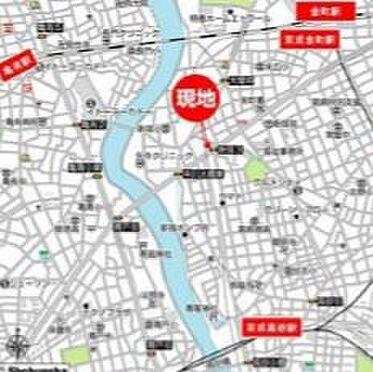 ビル(建物全部)-葛飾区新宿4丁目 地図