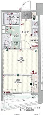 区分マンション-福岡市中央区地行2丁目 間取り