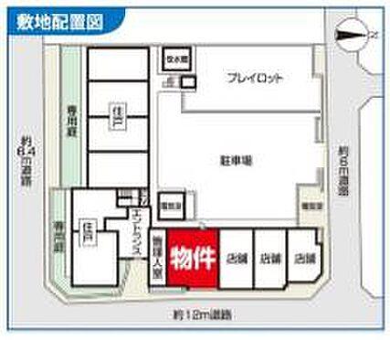 店舗事務所(建物一部)-厚木市旭町5丁目 区画図
