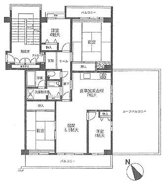 マンション(建物一部)-八王子市久保山町1丁目 東南角部屋。ゆとりの4LDK。ルーフバルコニーも利用できて、開放感のあるお部屋です。