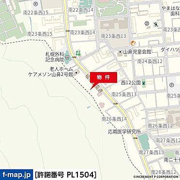 アパート-札幌市中央区南二十五条西14丁目 地図