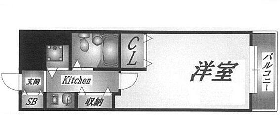 マンション(建物一部)-神戸市中央区下山手通8丁目 一人暮らしには使い勝手のいい間取り。