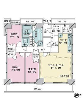 中古マンション-江東区東雲1丁目 間取り