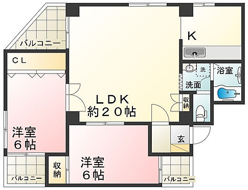 マンション(建物一部)-神戸市北区北五葉1丁目 複数のバルコニーや独立型キッチンが魅力