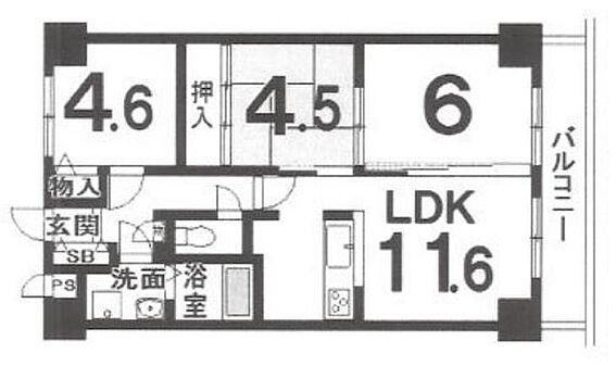 区分マンション-京都市西京区桂上野今井町 間取り