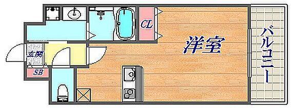 マンション(建物一部)-神戸市兵庫区大開通2丁目 3点セパレートで清潔感がある他、収納もあり単身者向けの間取り