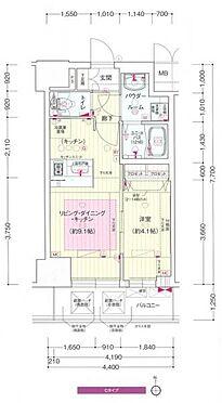 区分マンション-大阪市中央区安堂寺町2丁目 間取り