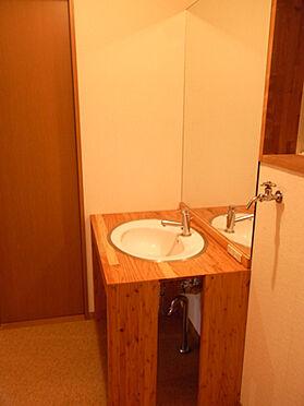 中古一戸建て-北佐久郡軽井沢町大字長倉 洗面スペースの様子です。すっきりタイプです。
