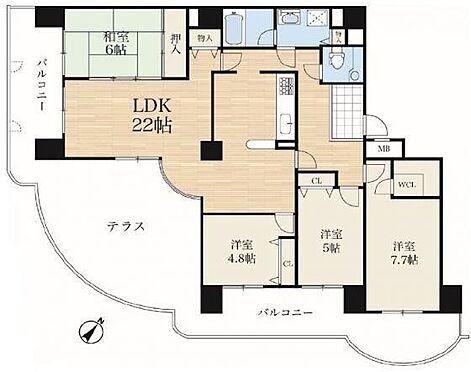マンション(建物一部)-神戸市西区月が丘5丁目 南東向きの広々バルコニーや豊富な収納が魅力