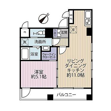 中古マンション-中央区銀座7丁目 間取り