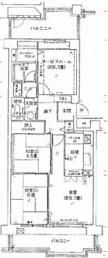 区分マンション-大阪市都島区友渕町1丁目 間取り