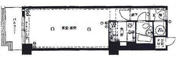 マンション(建物一部)-大阪市中央区南船場1丁目 水まわりをまとめたシンプルなプラン