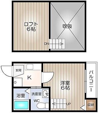 アパート-名古屋市昭和区白金1丁目 間取り