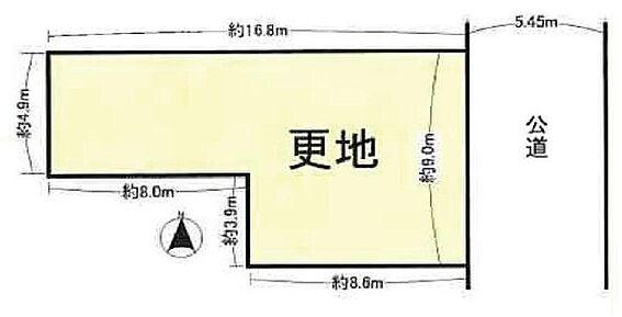 土地-大阪市東成区大今里南1丁目 区画図
