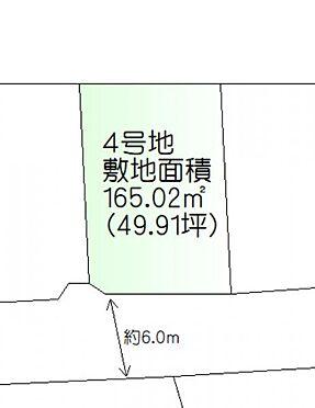 土地-仙台市太白区袋原1丁目 区画図
