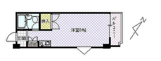 マンション(建物一部)-福井市四ツ井2丁目 間取り