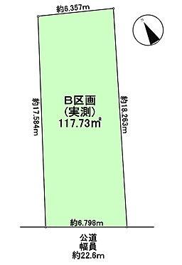 土地-武蔵野市関前4丁目 区画図
