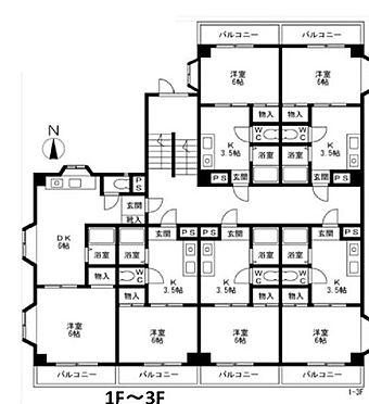 一棟マンション-さいたま市浦和区駒場1丁目 1-3F間取り 全室稼働中